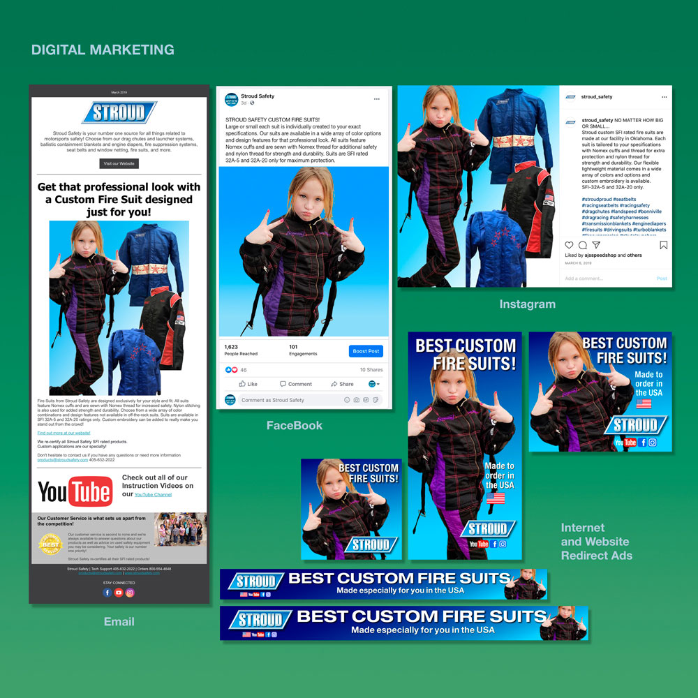 Digital marketing and advertising campaign for social media, Instagram, Facebook, and email newsletter distribution