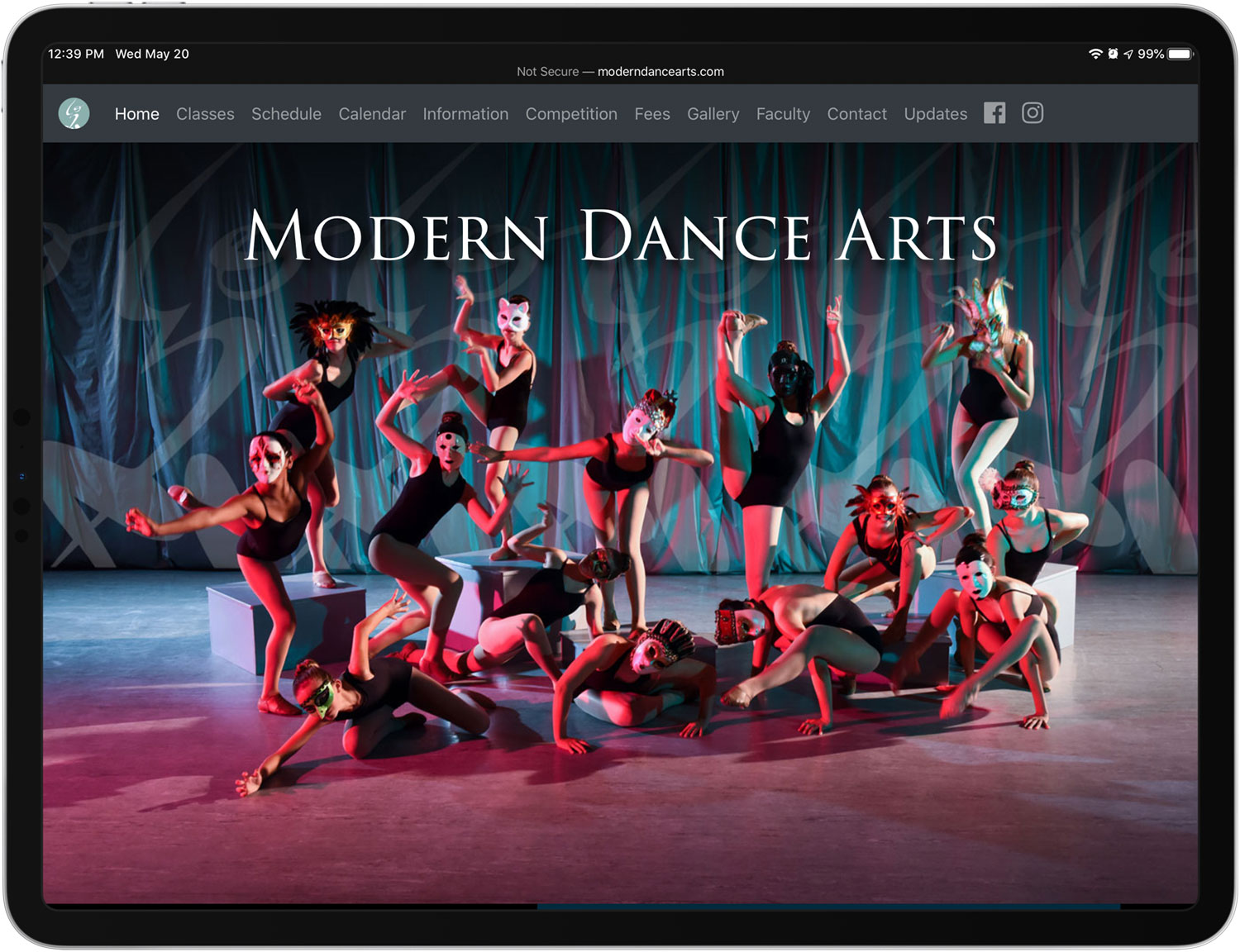 Modern Dance Arts website