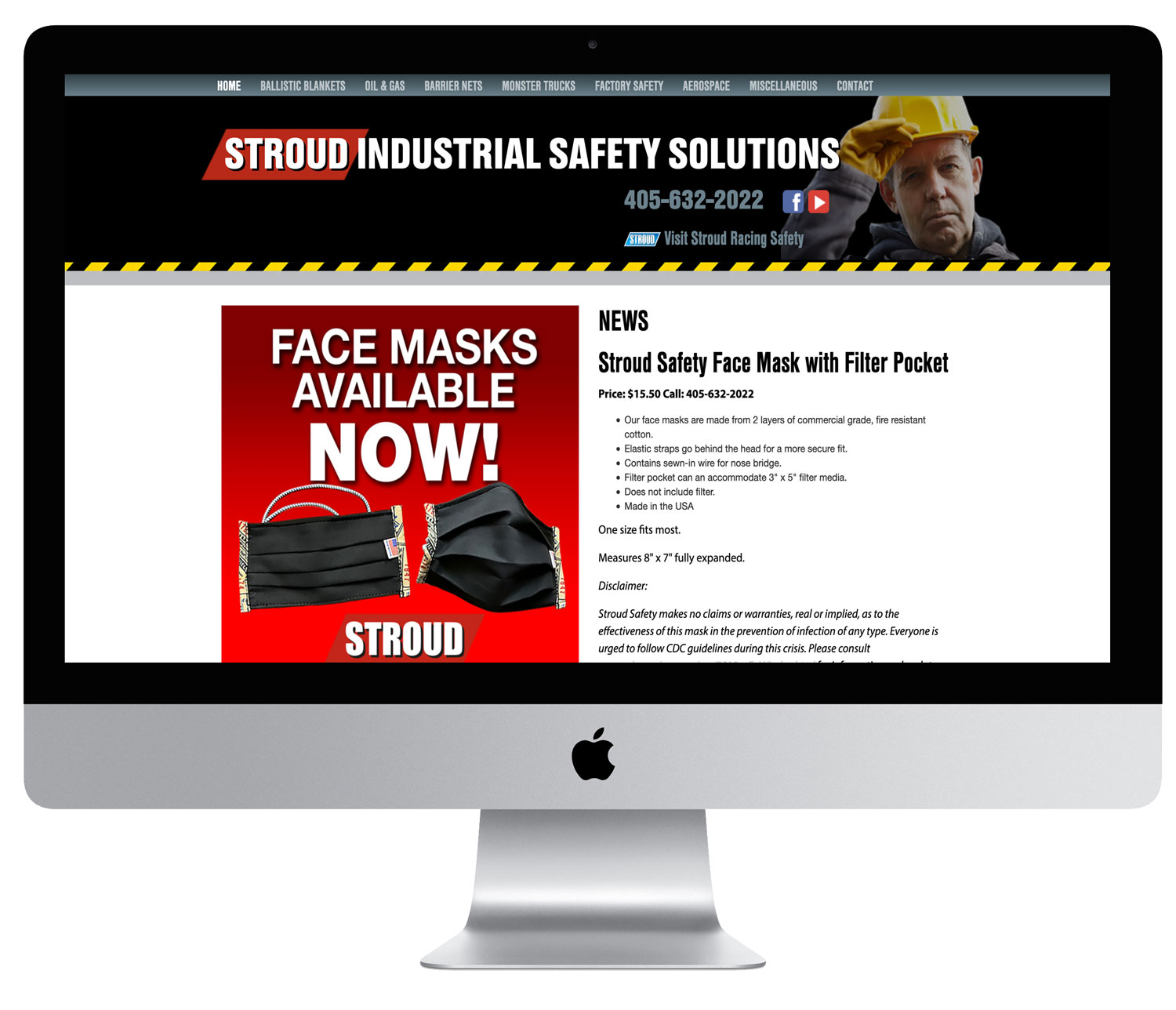 Stroud Industrial Safety Solutions website